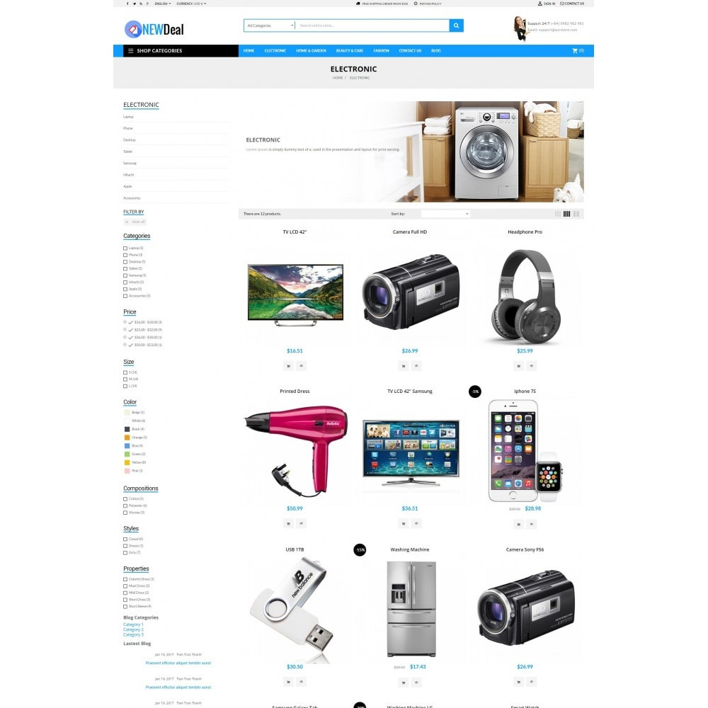 theme - Elektronica & High Tech - New Deals Super Market - 5