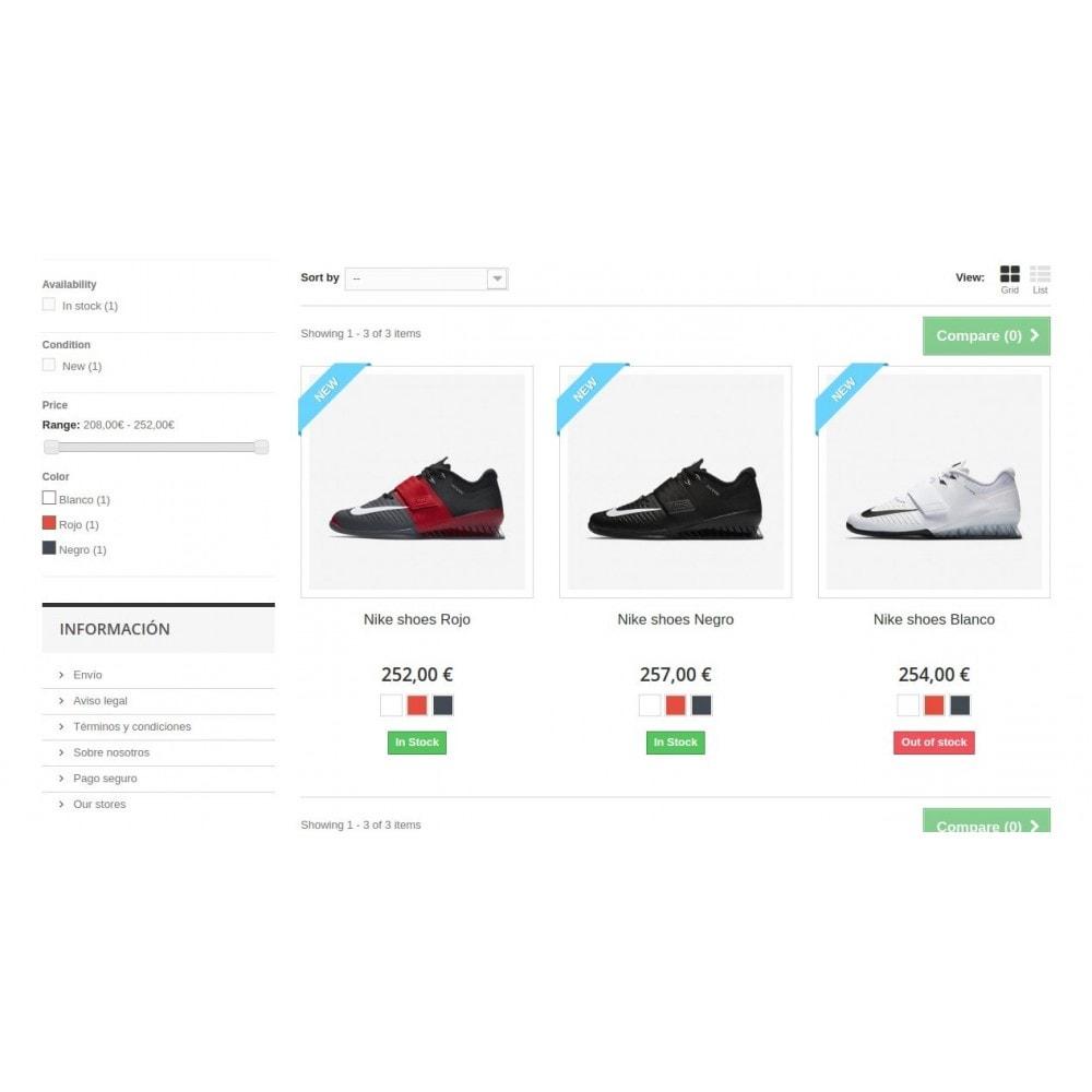 module - Combinaciones y Personalización de productos - Combinaciones en listado de productos - 2