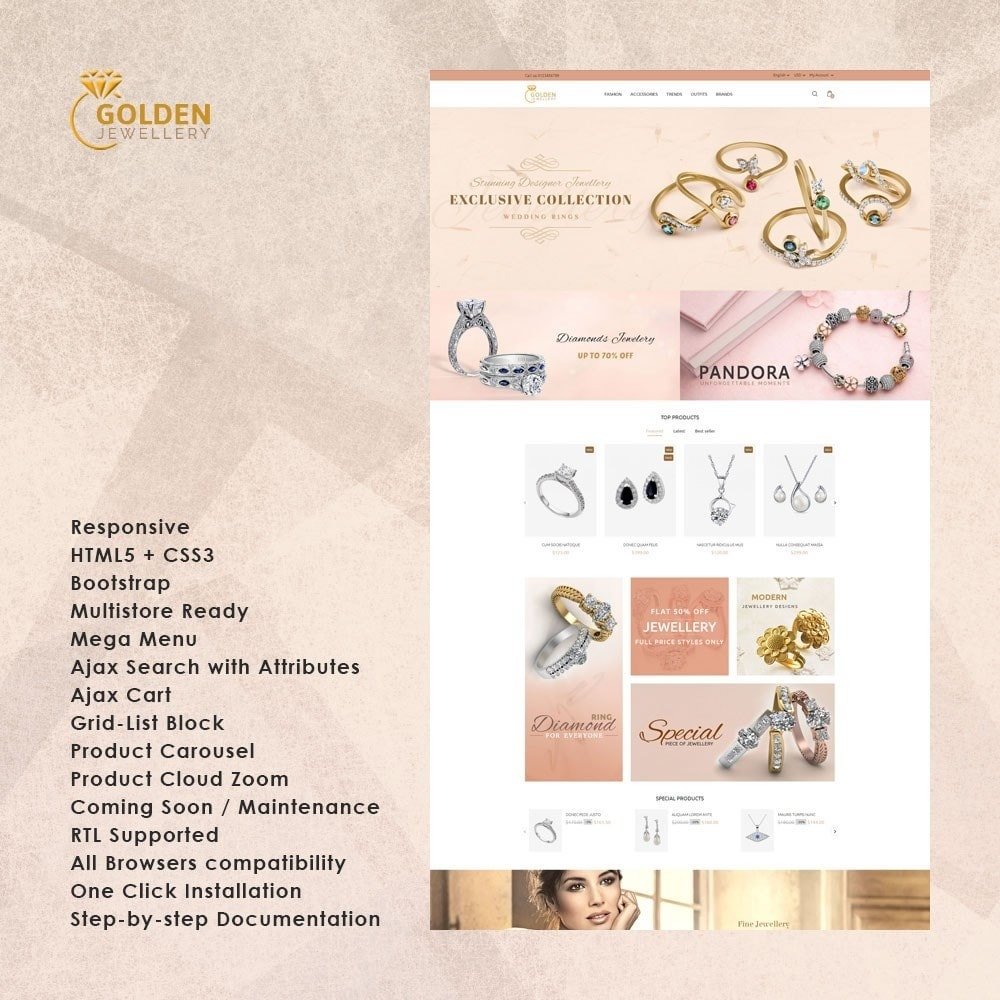theme - Jewelry & Accessories - Golden Jewellery Store - 1