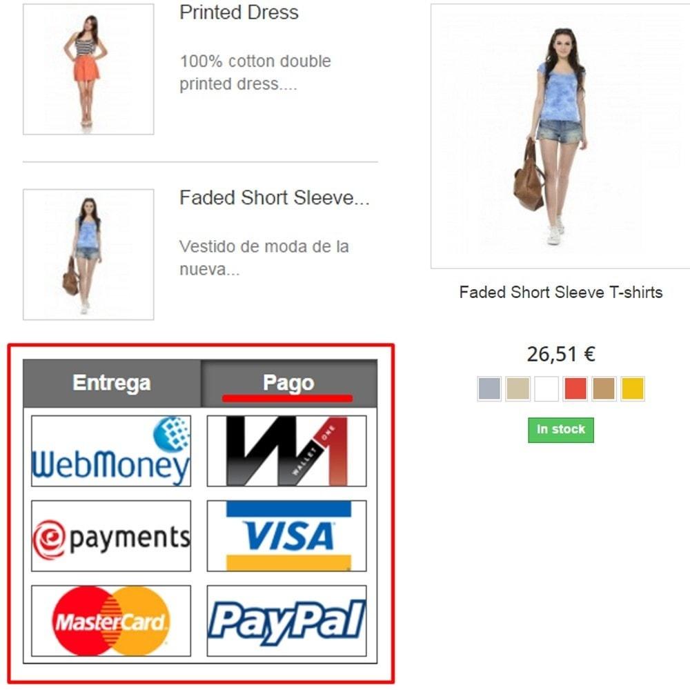 module - Personalización de la página - El pago y la entrega del logotipo - 2