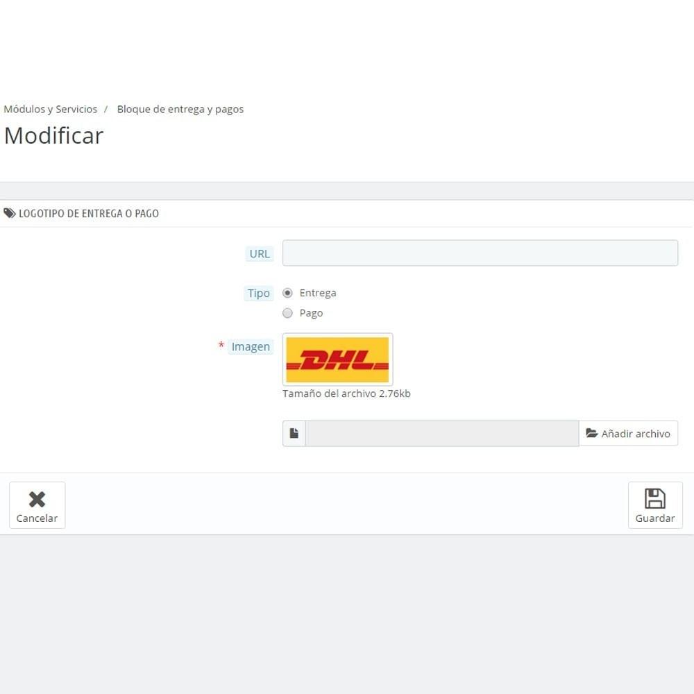module - Personalización de la página - El pago y la entrega del logotipo - 4