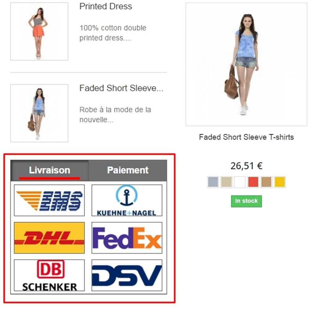 module - Personnalisation de Page - Paiement et livraison Logo - 1