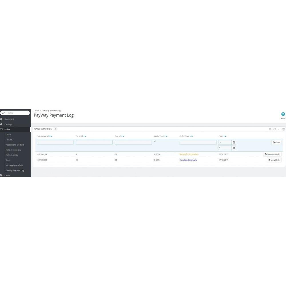 module - Pagamento con Carta di Credito o Wallet - Pagamento Pay Way - 7