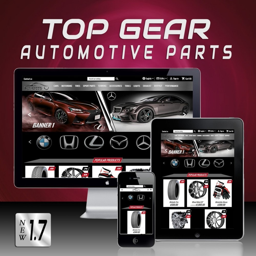 theme - Auto's & Motoren - Speed - Automotive Store - 1