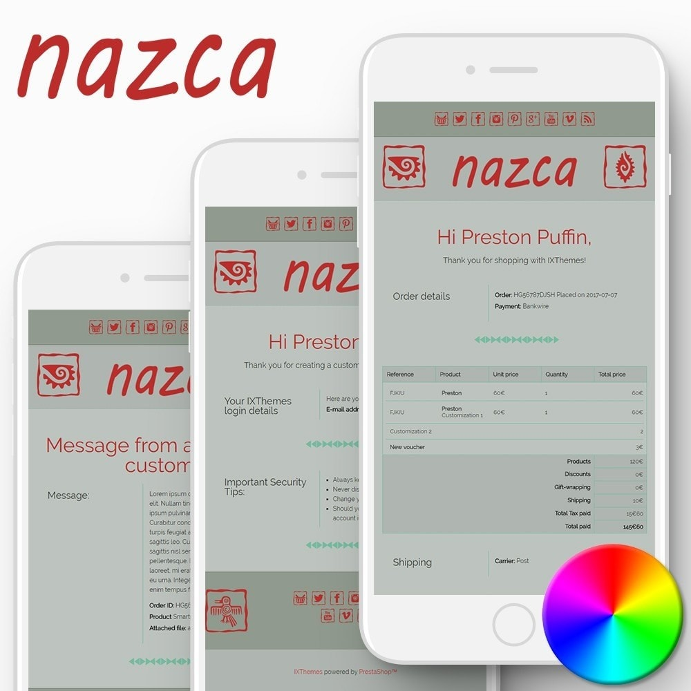 email - Email templates PrestaShop - Nazca - Email templates - 1