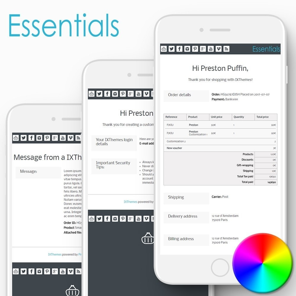 Essentials - Email templates