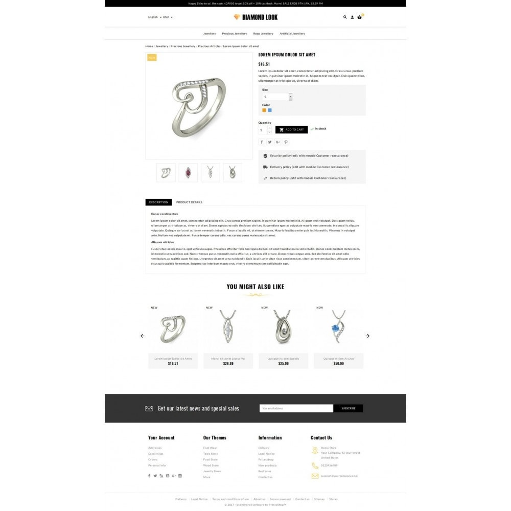 theme - Schmuck & Accesoires - Diamond Look Store - 5