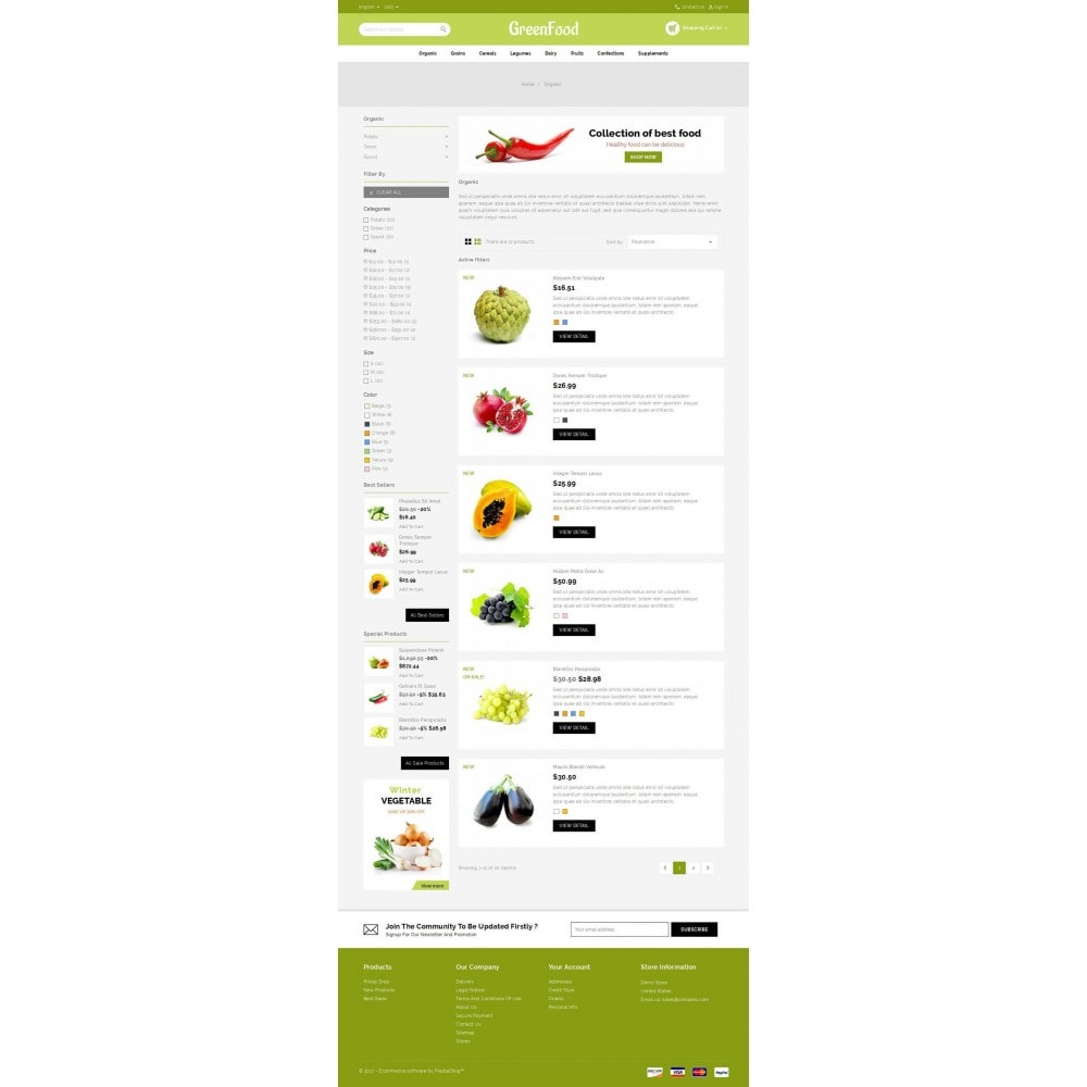 theme - Food & Restaurant - Green Food Store - 3