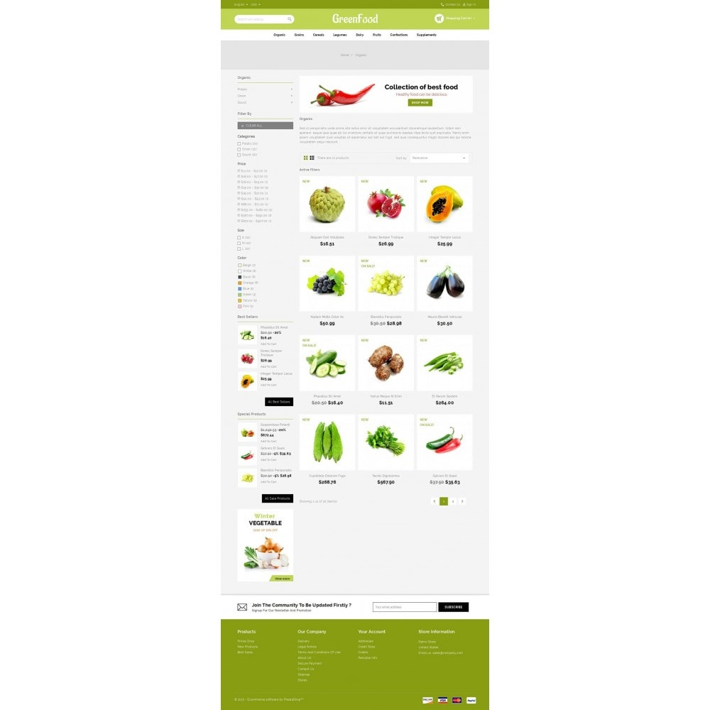 theme - Food & Restaurant - Green Food Store - 4