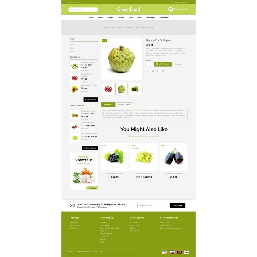 theme - Food & Restaurant - Green Food Store - 5