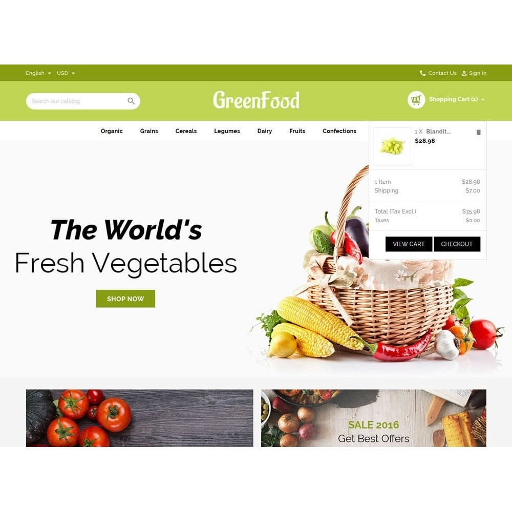 theme - Food & Restaurant - Green Food Store - 7