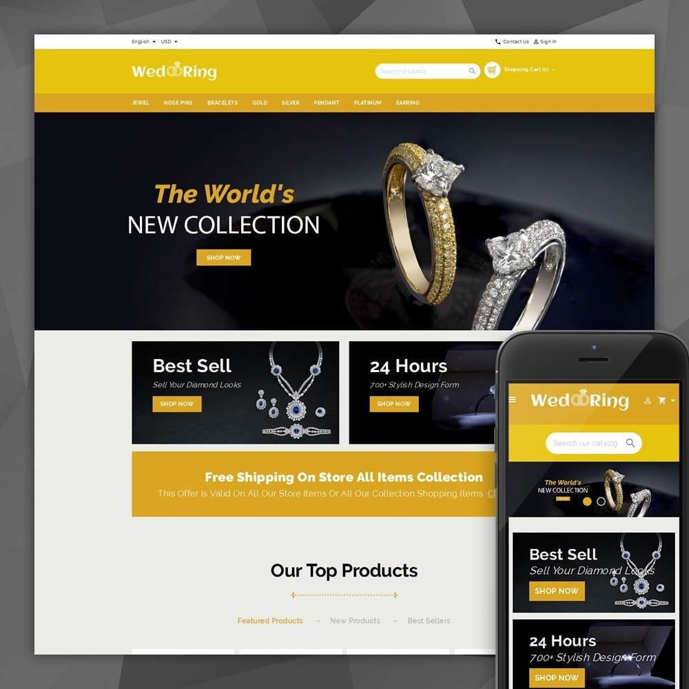 theme - Sieraden & Accessoires - Wedding Ring Store - 1