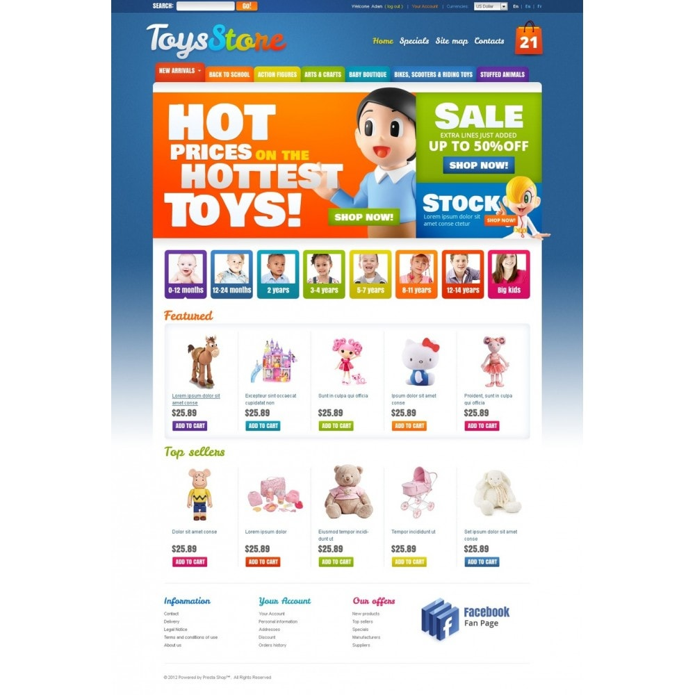 theme - Thèmes PrestaShop - Toys for Kids - 4