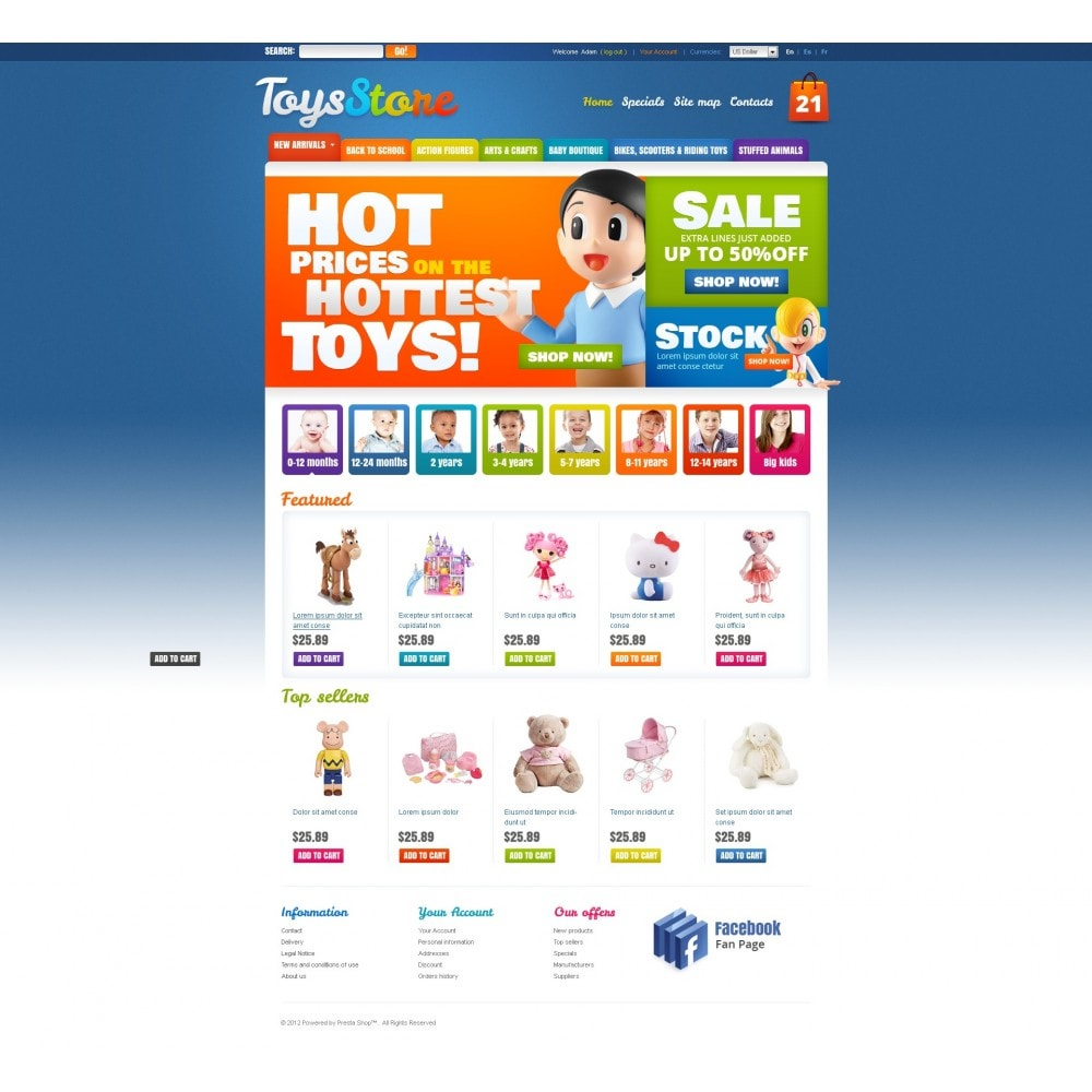theme - PrestaShop Themen - Toys for Kids - 7