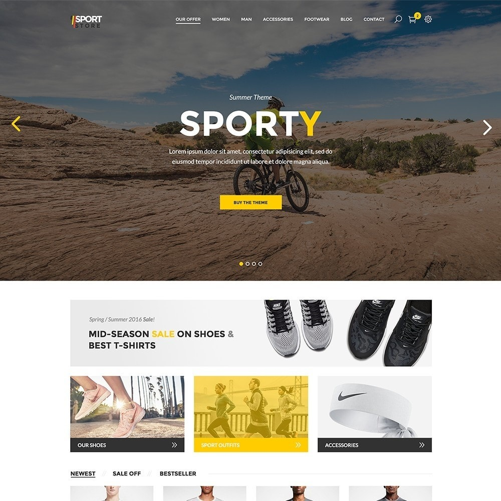 theme - Sport, Attività & Viaggi - Sport Store by PrestaHome, Clothes & Equipment - 2