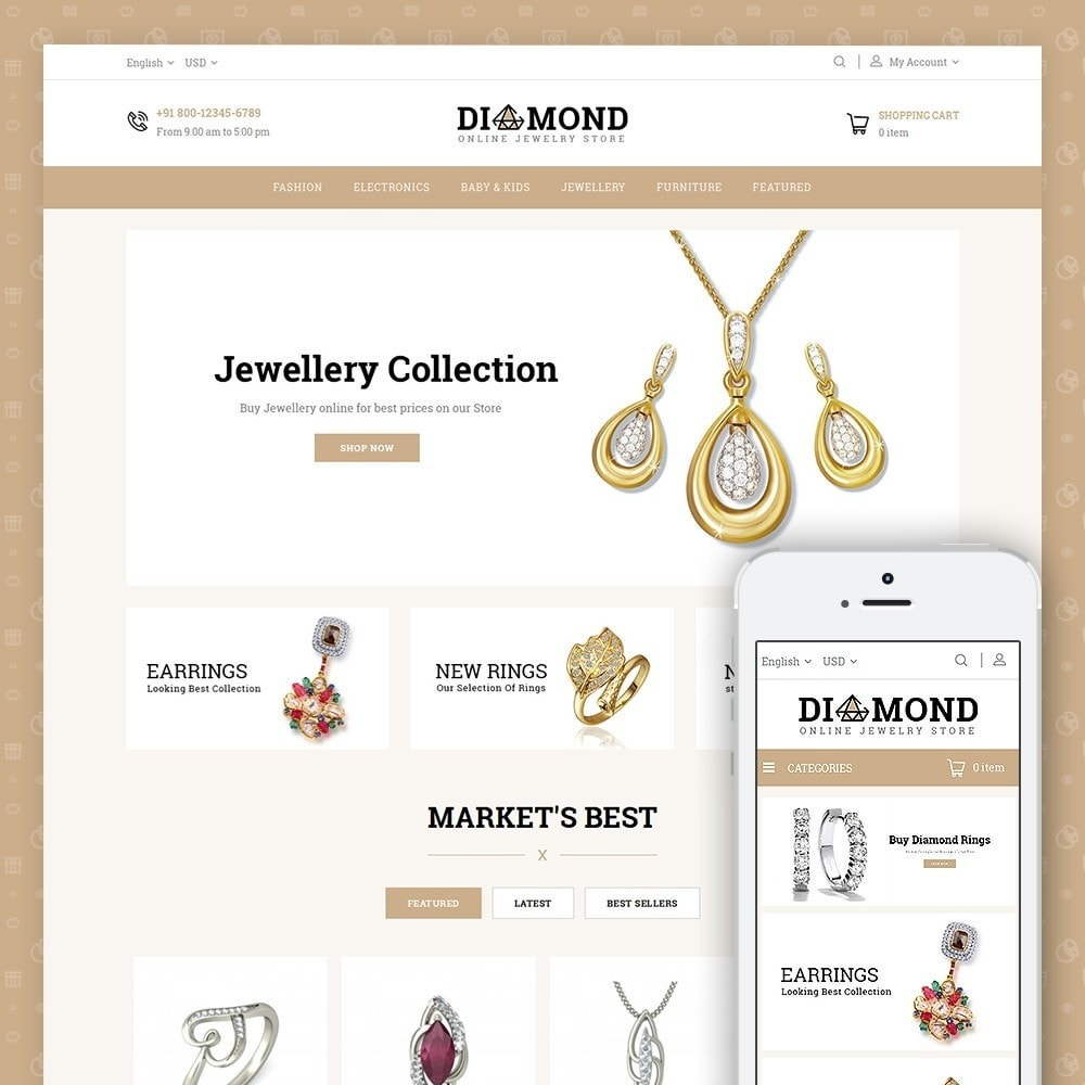 theme - Jewelry & Accessories - Diamond Jewelry Store - 1