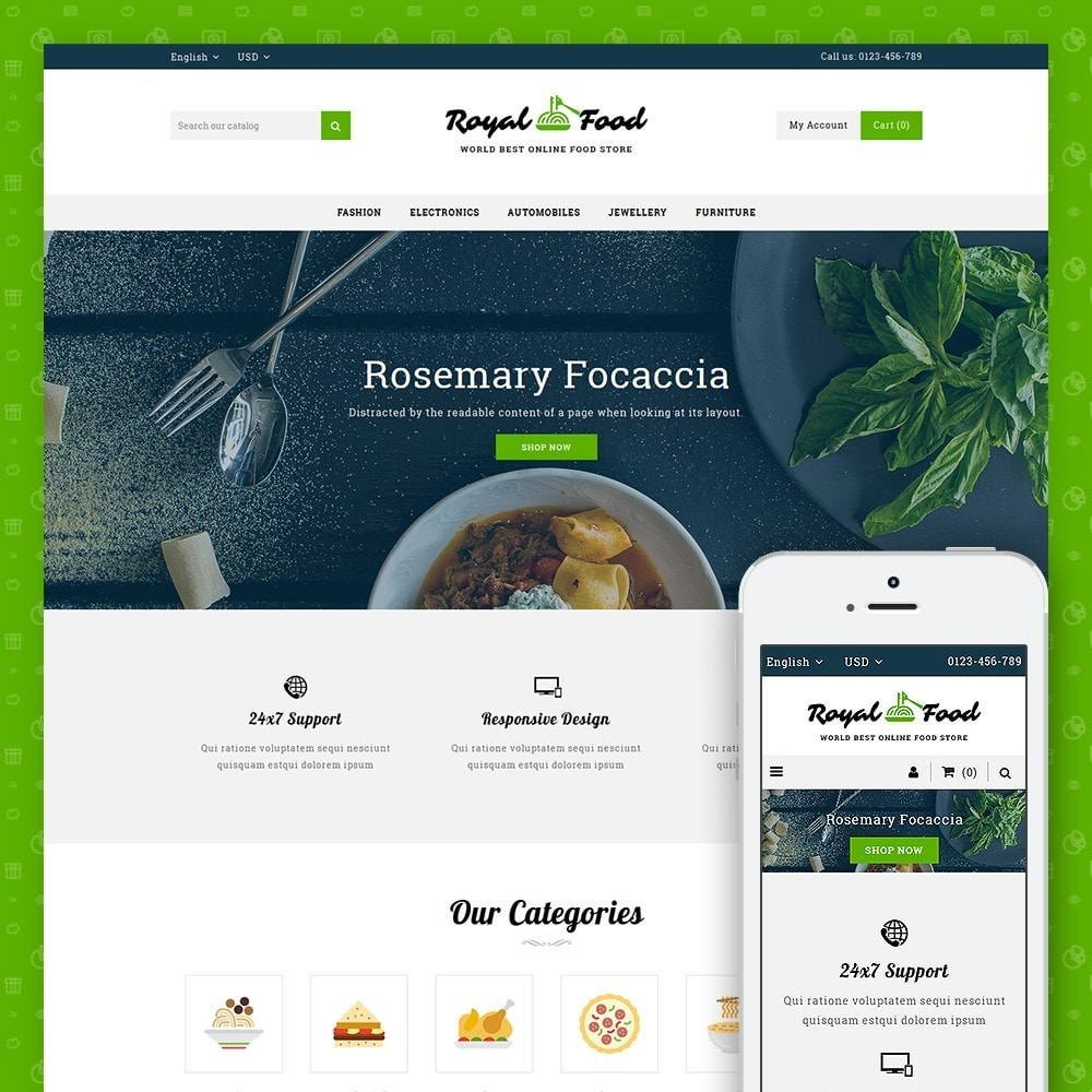 theme - Food & Restaurant - Food and Restaurant Store - 1