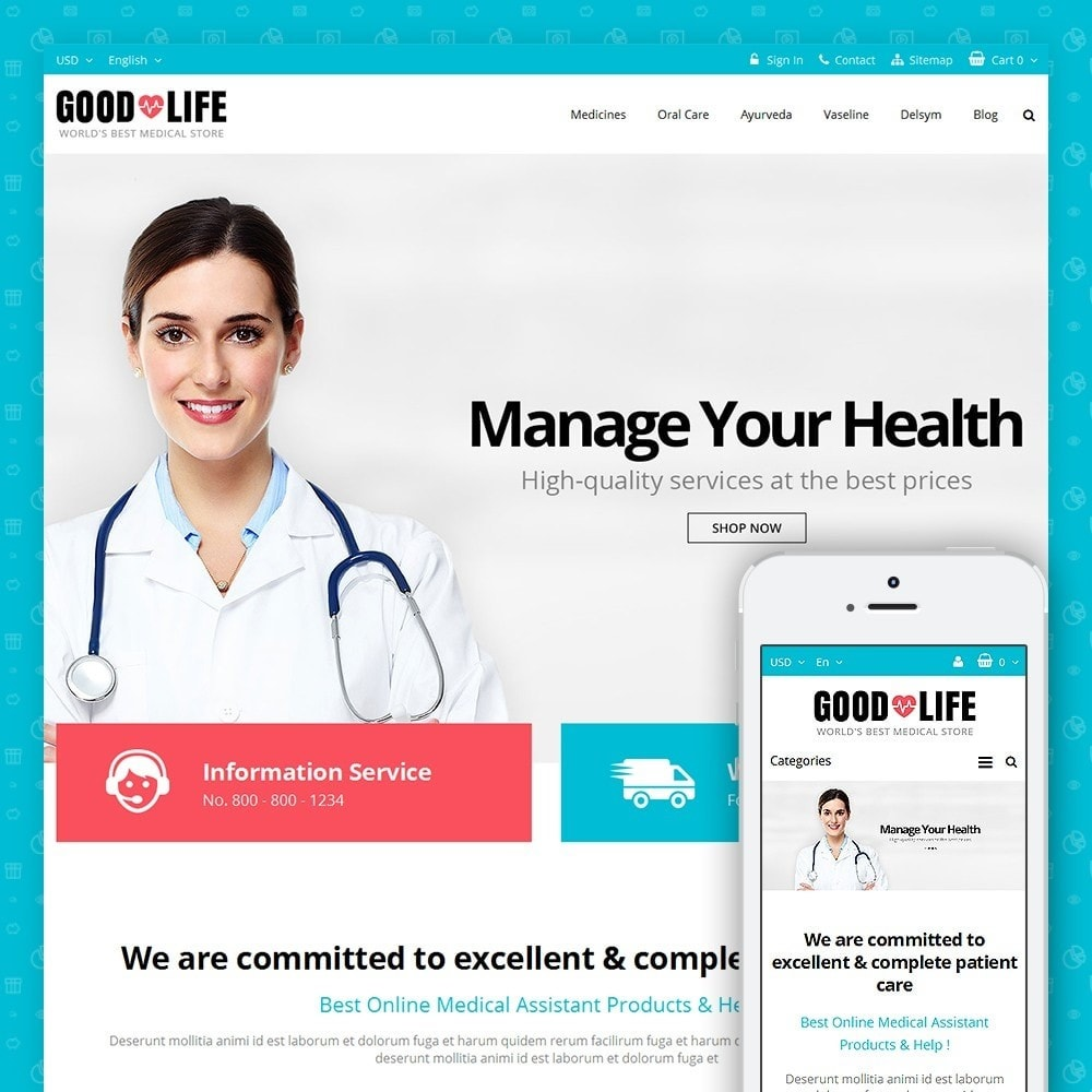 theme - Salud y Belleza - Good Life - Medical Store - 1