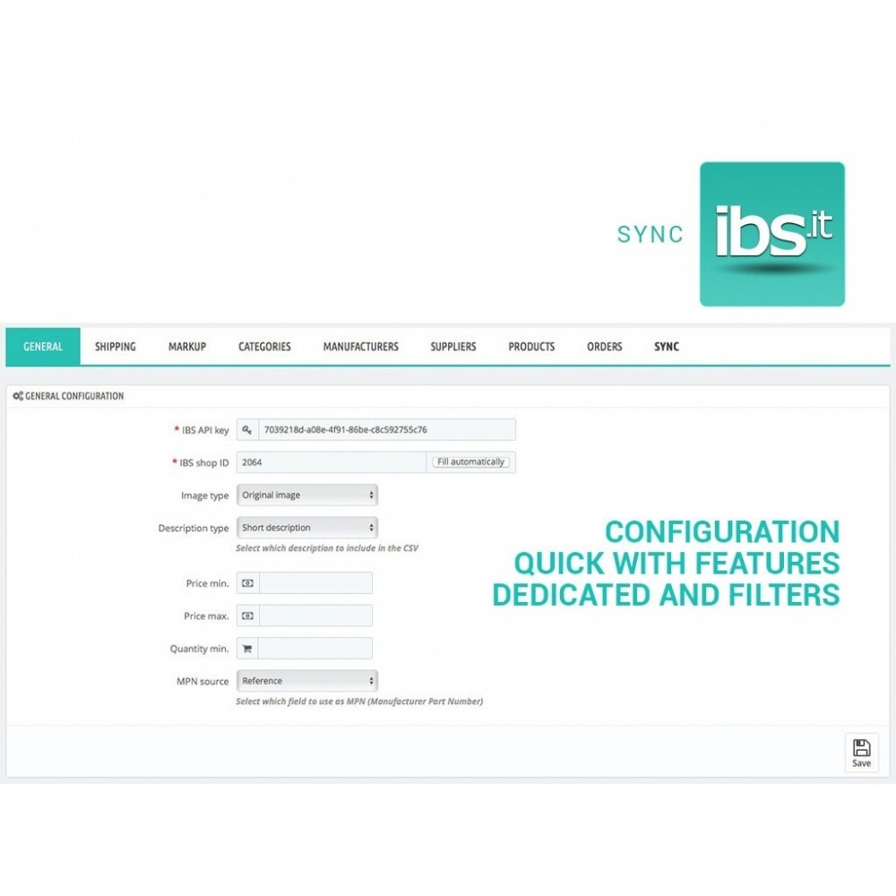 module - Marketplaces - Sync your PrestaShop store with IBS.it marketplace - 2