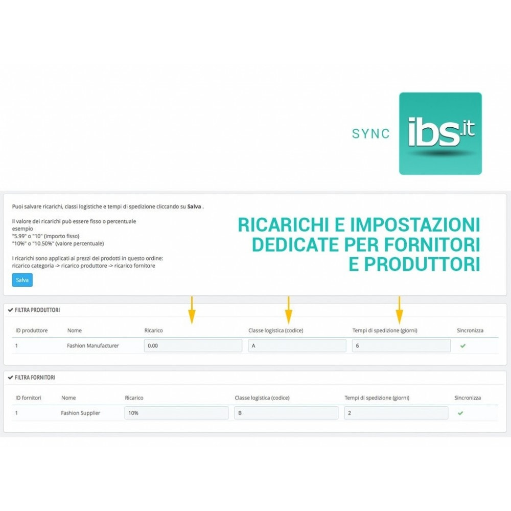 module - Marketplace - Sincronizza PrestaShop con il marketplace IBS.it - 4