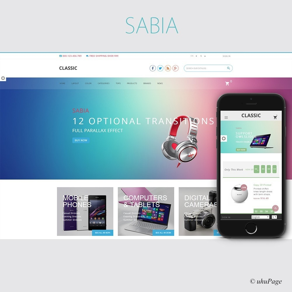 theme - Elettronica & High Tech - Sabia Electronics Store - 1