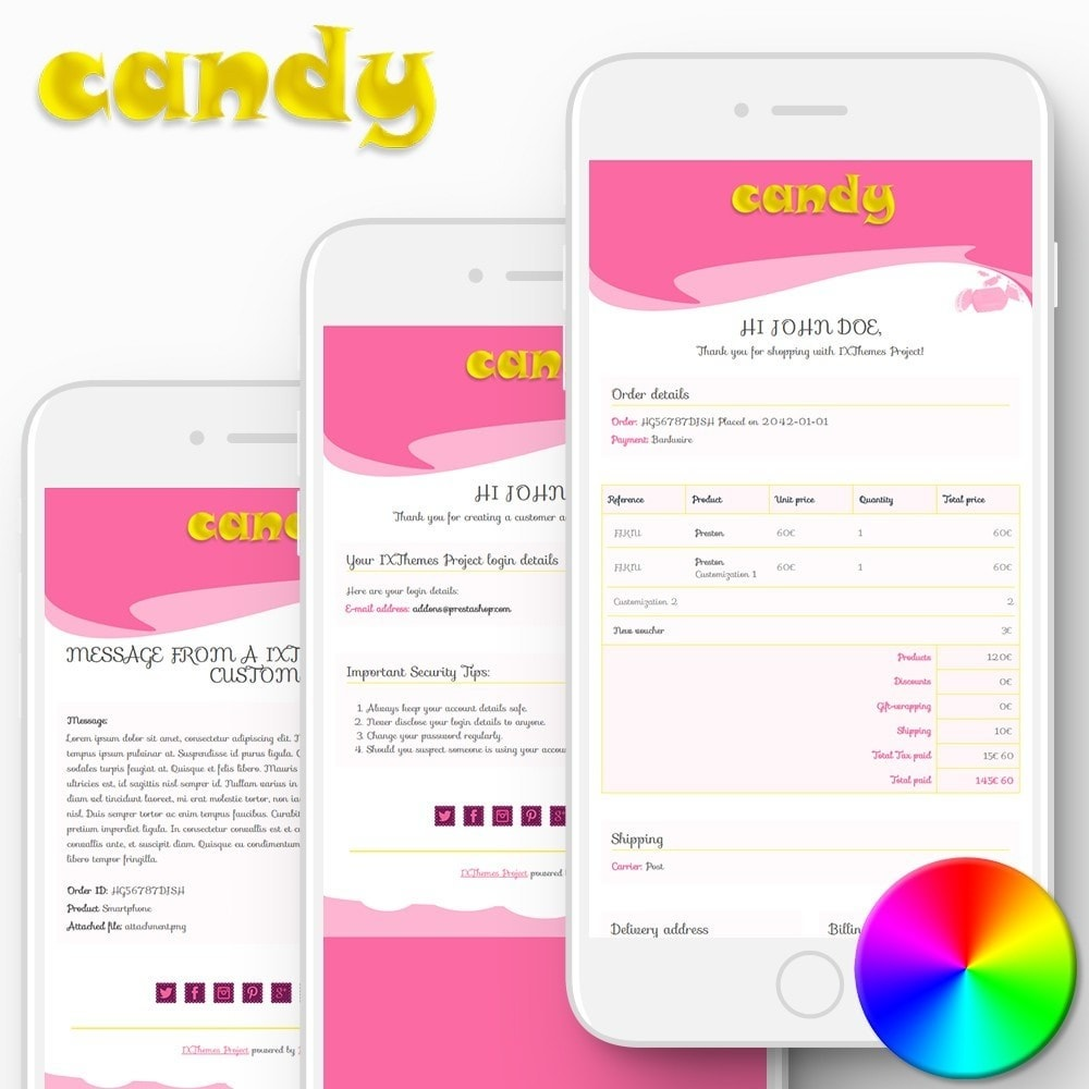 Candy - Email templates