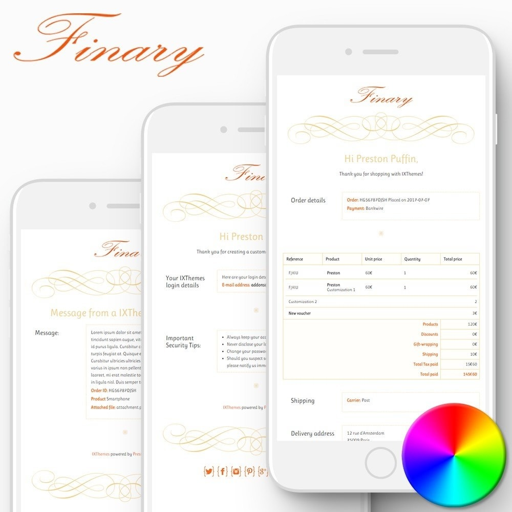 Finary - Email templates