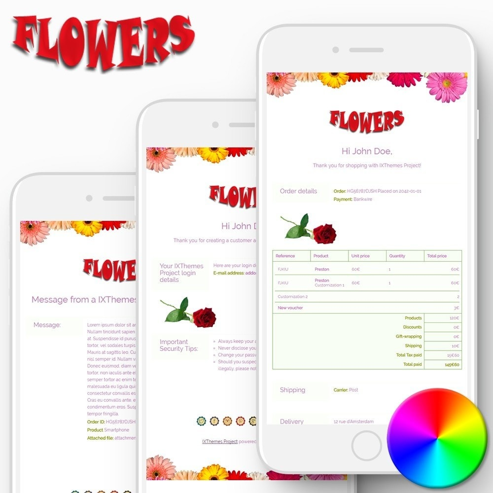 Flowers - Email templates
