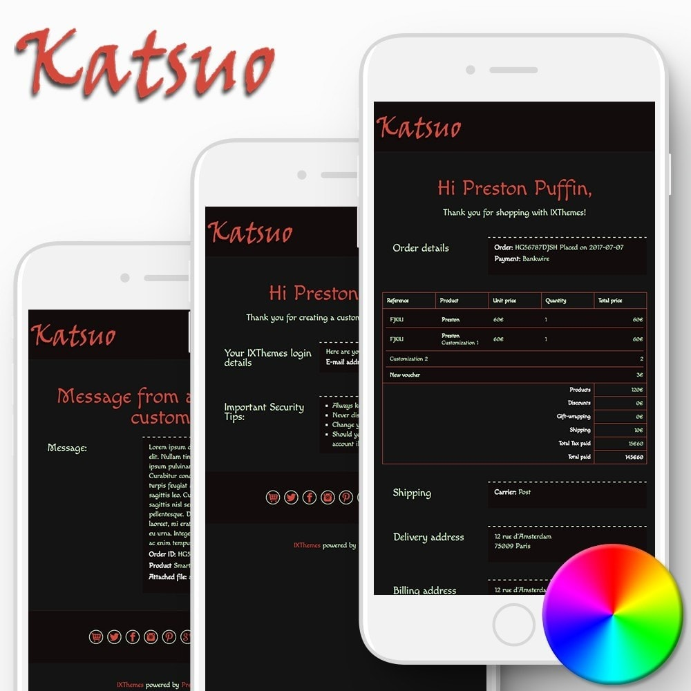 email - Email templates PrestaShop - Katsuo - Email templates - 1