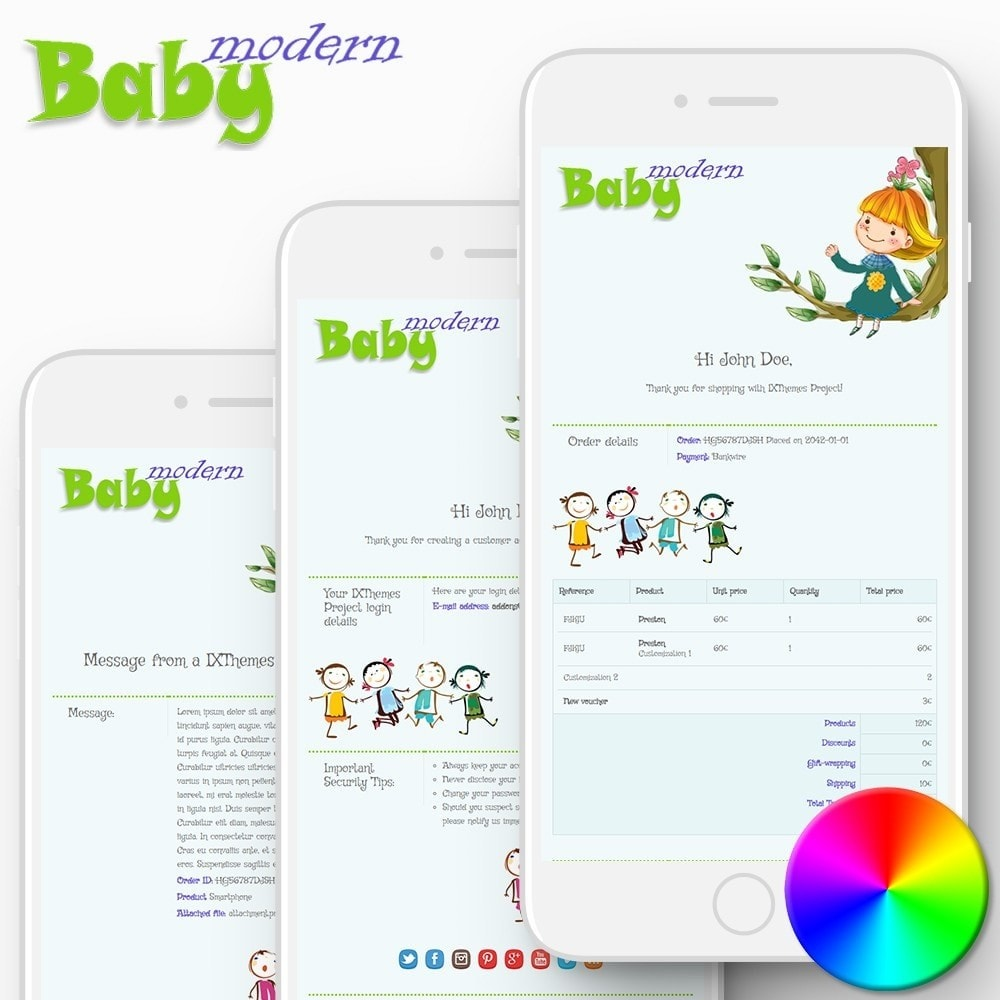 email - PrestaShop email templates - Modern Baby - Email templates - 1