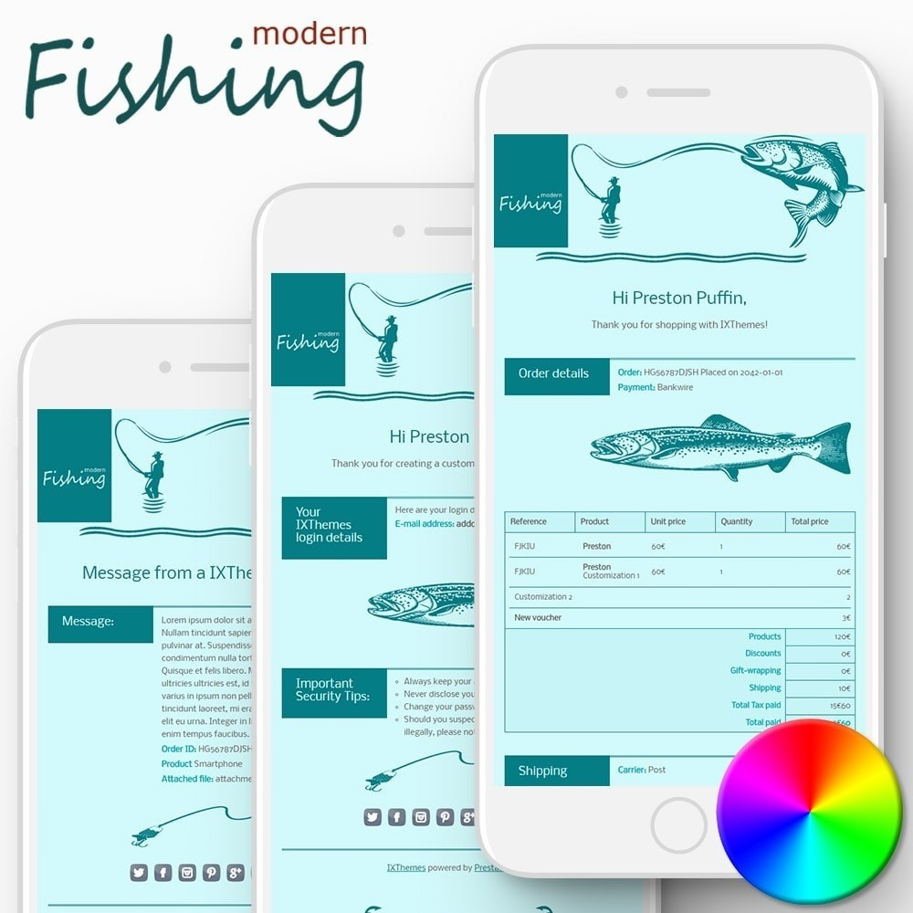 Modern Fishing - Email templates