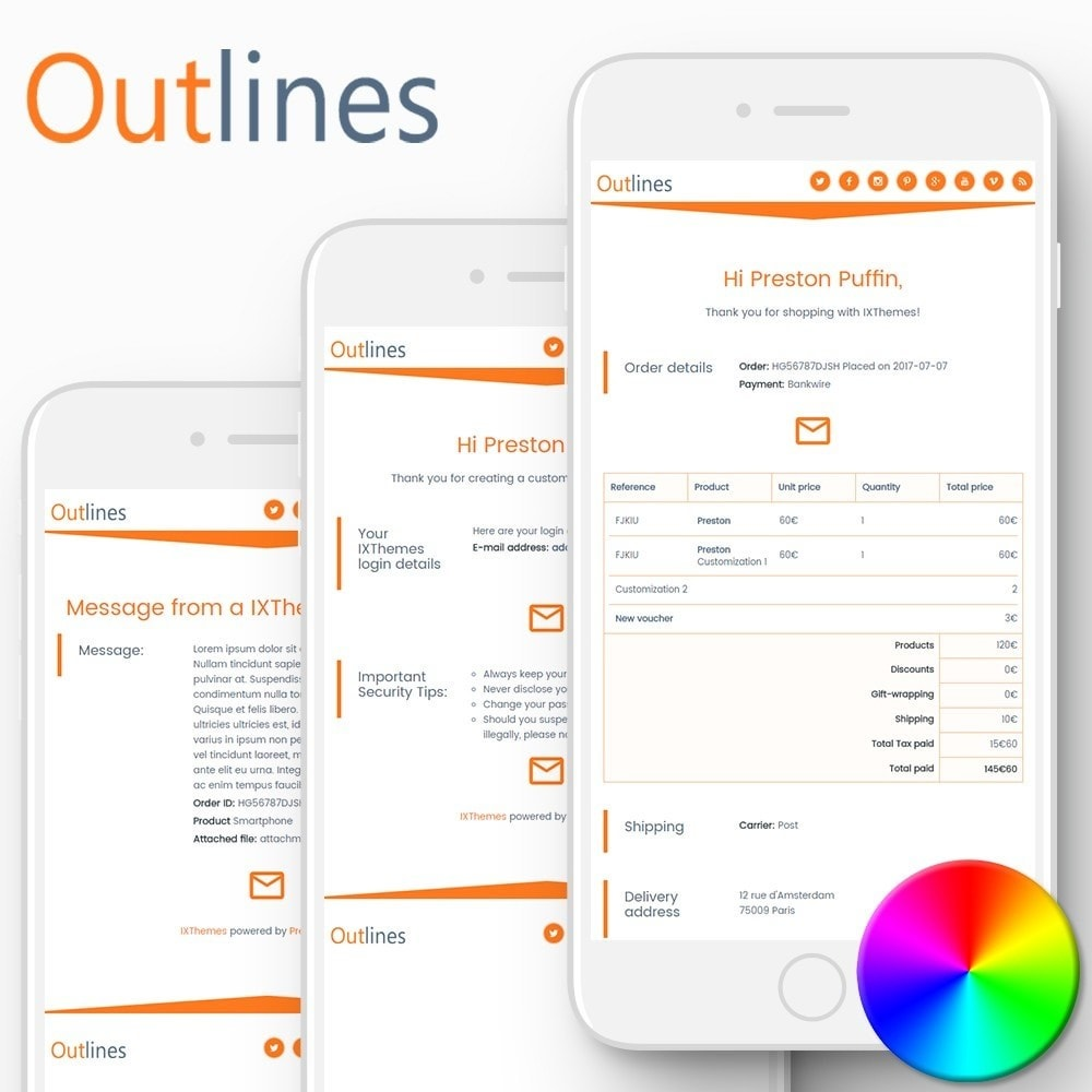 Outlines - Email templates