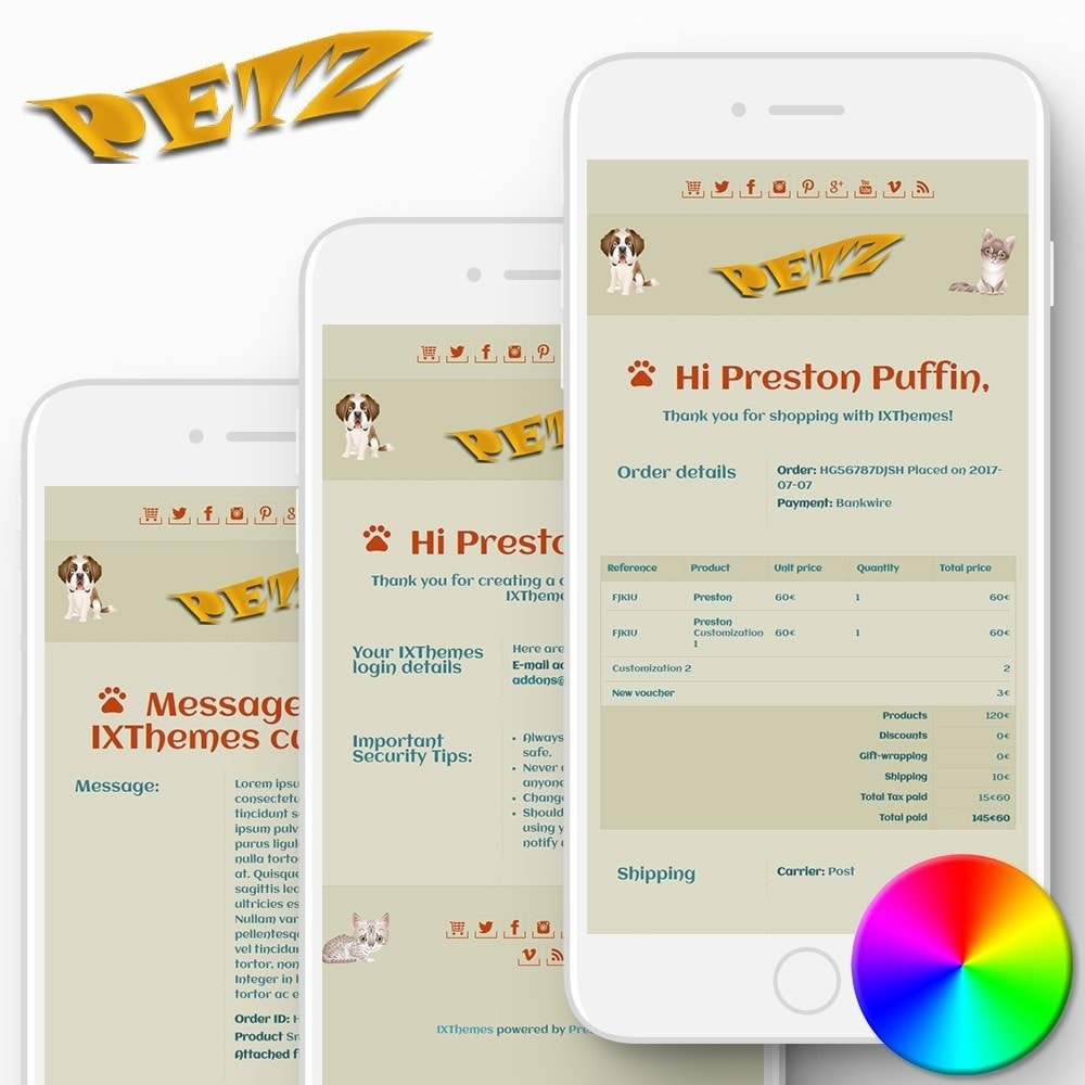Petz - Email templates