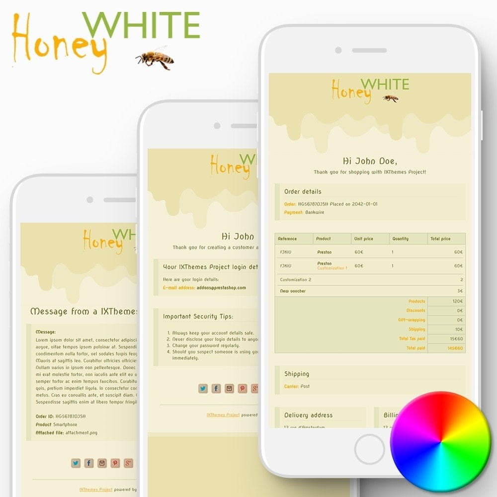 email - PrestaShop email templates - White Honey - Email templates - 1