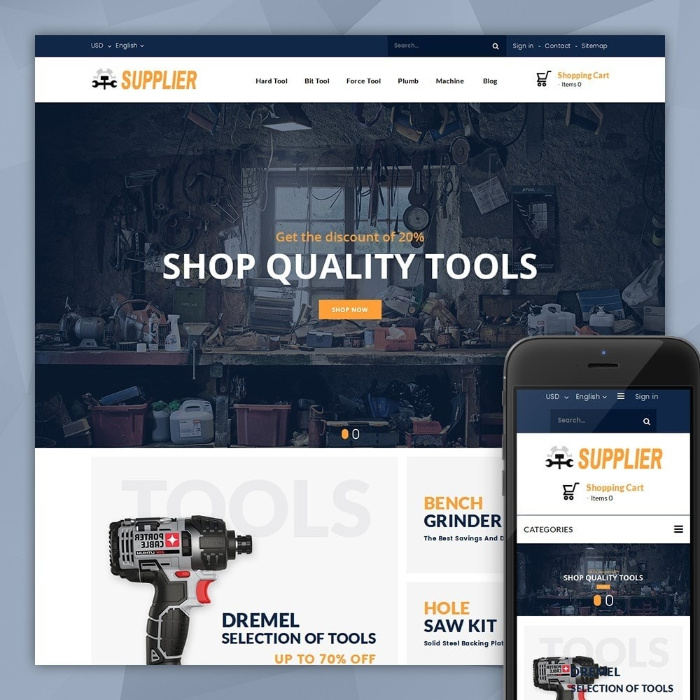 theme - Automotive & Cars - Supplier Tools Store - 1