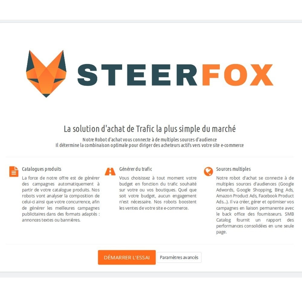 module - Référencement payant (SEA SEM) & Affiliation - SteerFox - Acquisition de Trafic 100% Automatisé - 3