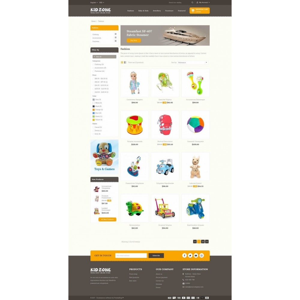 theme - Kids & Toys - Kid Zone Online Store - 3