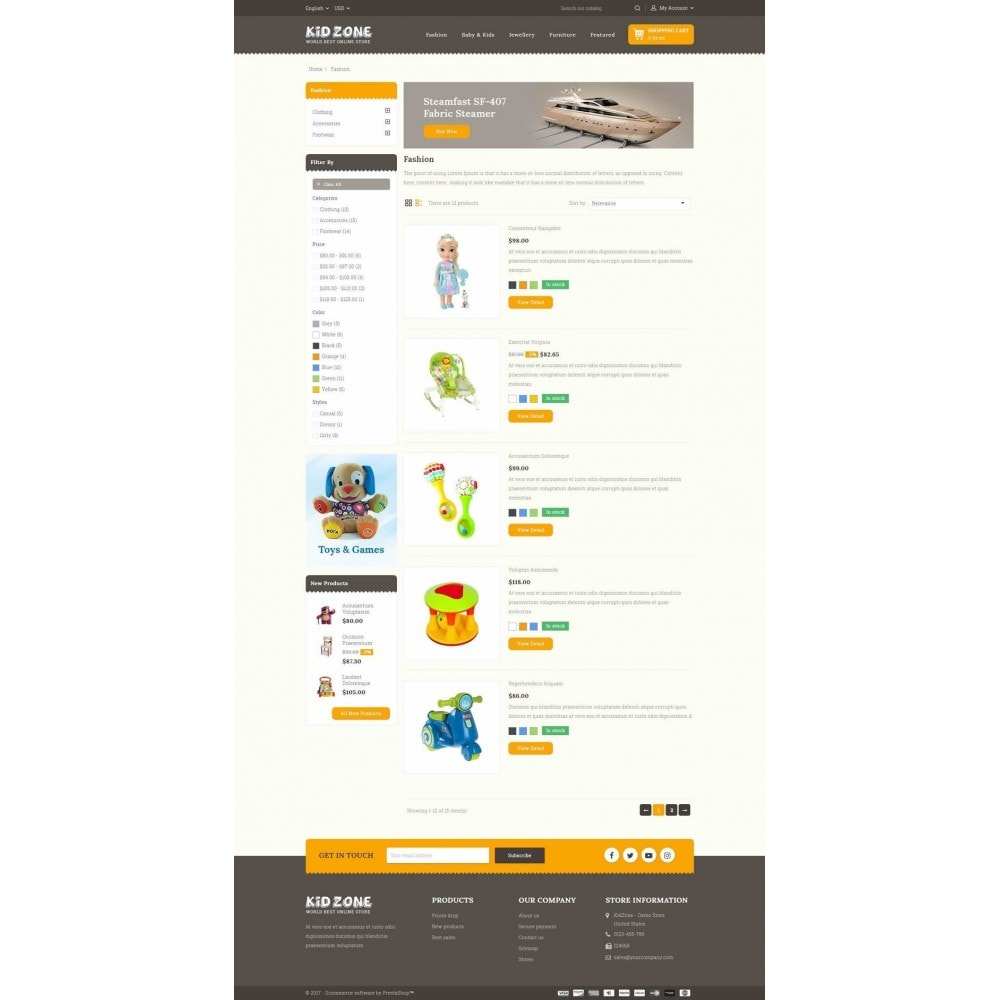 theme - Crianças & Brinquedos - Kid Zone Online Store - 4