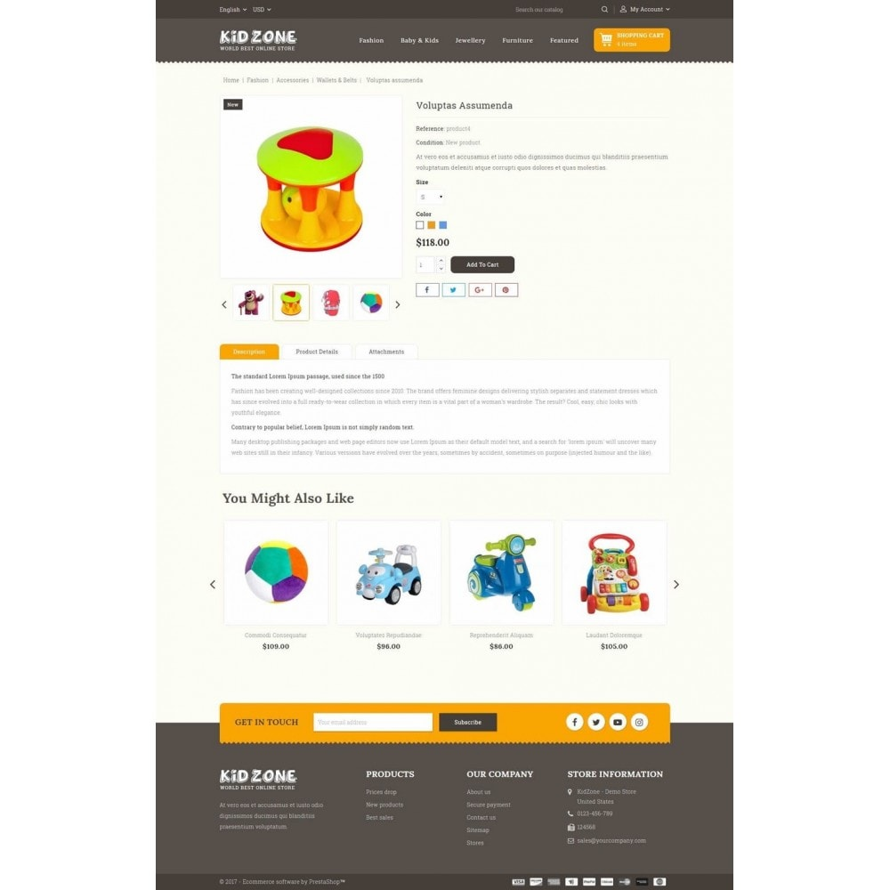 theme - Crianças & Brinquedos - Kid Zone Online Store - 5
