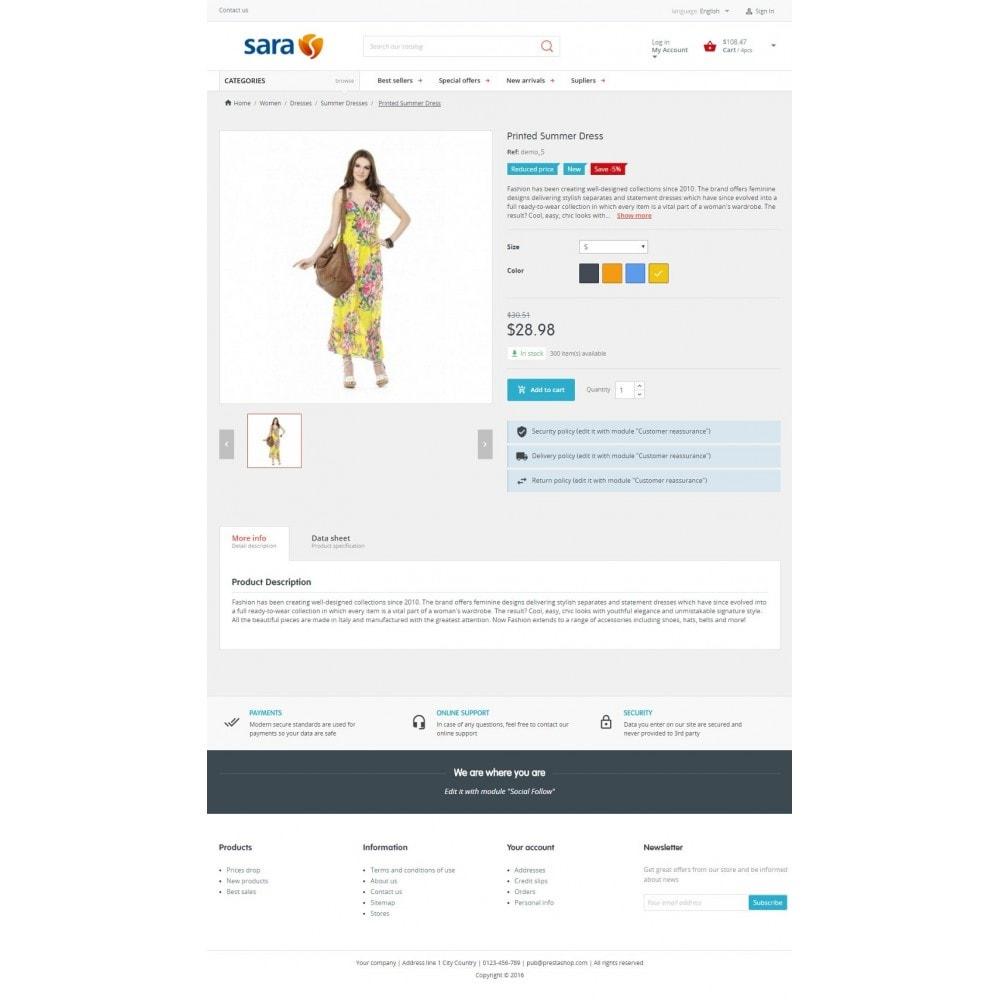theme - Fashion & Shoes - Sara Fashion Store - 4