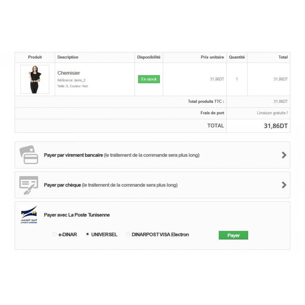 module - Autres moyens de paiement - Edinar - La poste tunisienne - 1