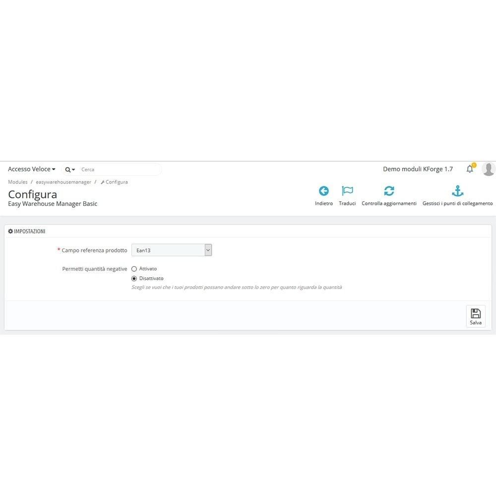 module - Gestione Scorte & Fornitori - Carico/scarico quantità magazzino - Basic - 2
