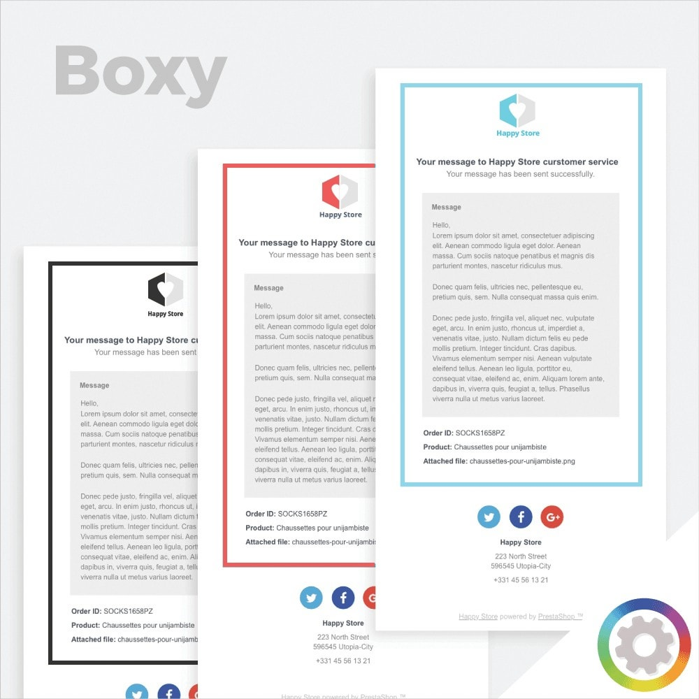 Boxy - Templates de mail