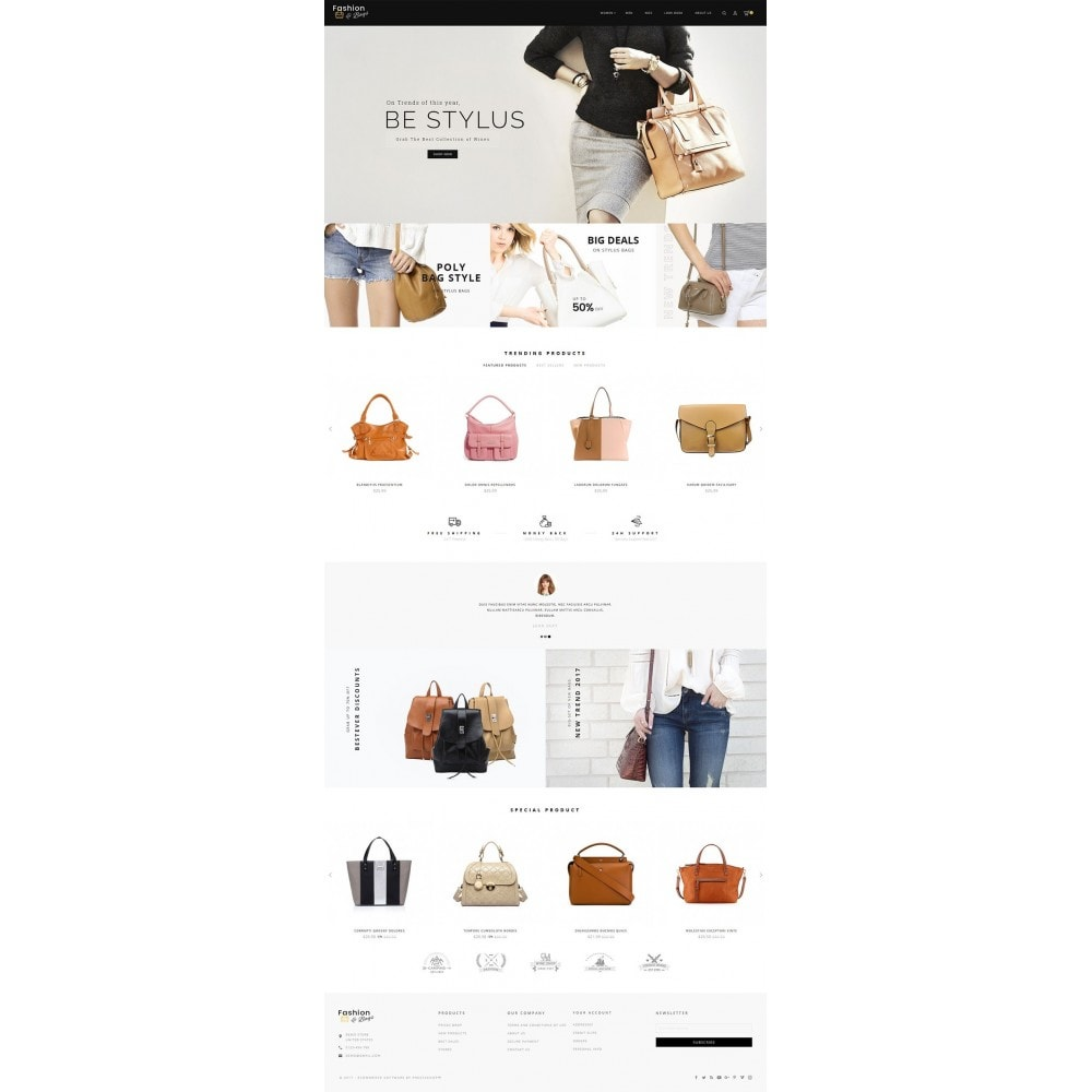 theme - Мода и обувь - Fashion Bag Store - 2