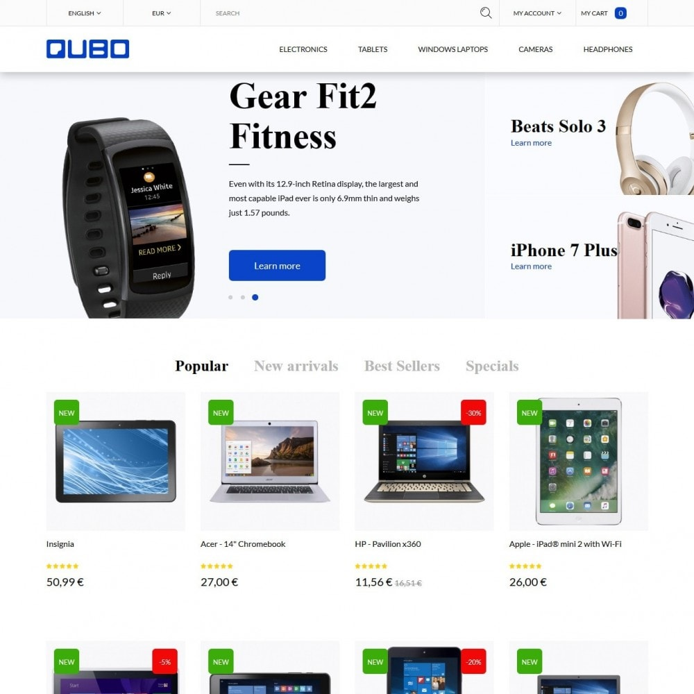 theme - Elettronica & High Tech - Qubo - High-tech Shop - 2