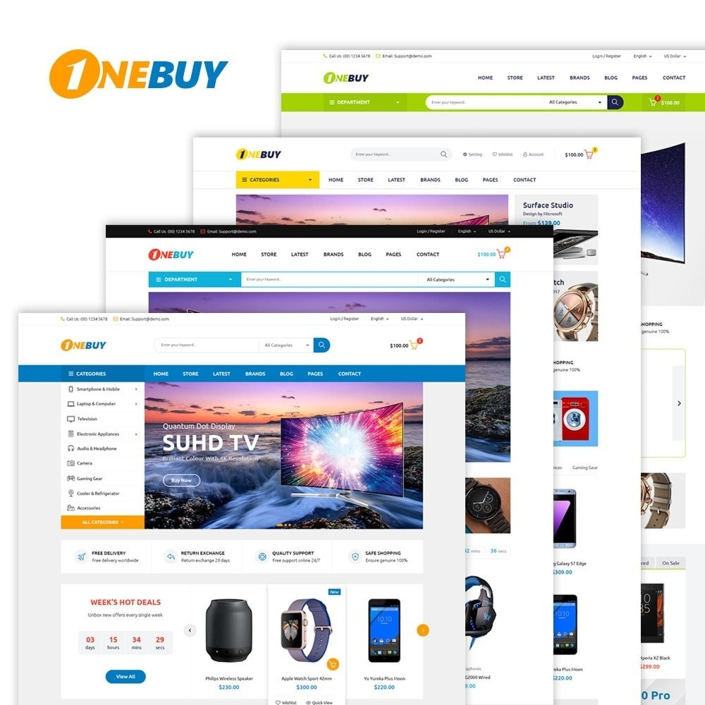 theme - Elektronica & High Tech - JMS OneBuy - 1