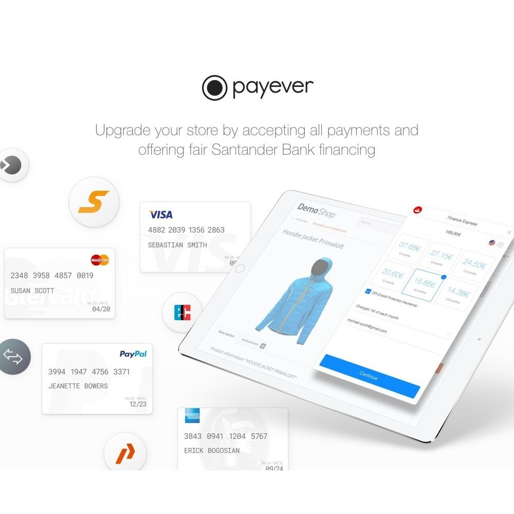 module - Payment by Card or Wallet - payever - Credit Card, Invoice, ELV, Installments - 3