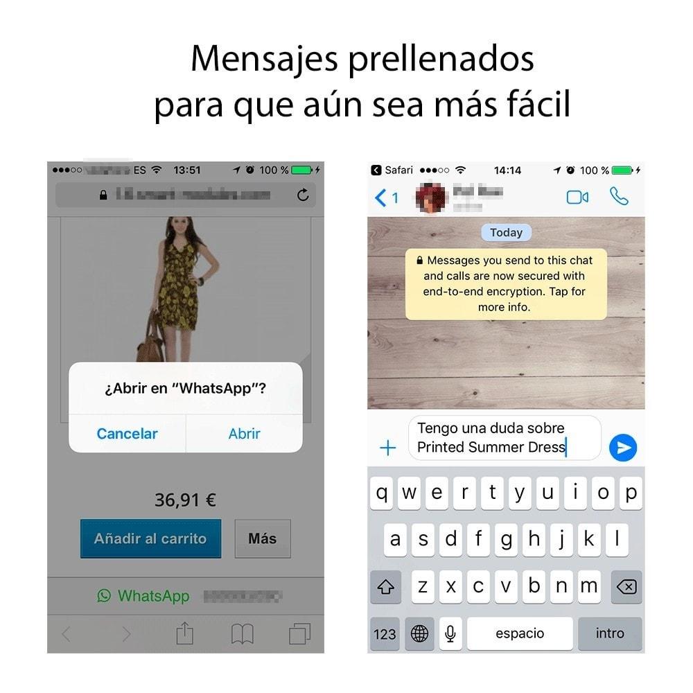 module - Dispositivos móviles - Información de Contacto por WhatsApp - 2