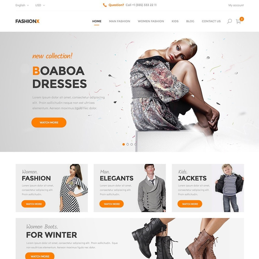 theme - Moda & Obuwie - FashionX - Fashion, Clothes, Boutique Store - 3