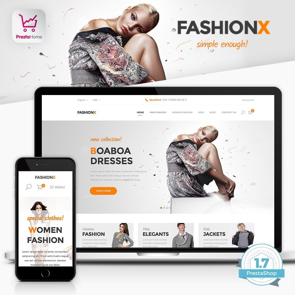 FashionX - Fashion, Clothes, Boutique Store